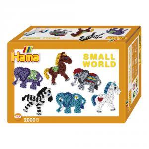 Hama Midi small world elefante y pony 2000 perlas