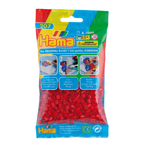 Hama Midi bolsa 1000 perlas Rojo