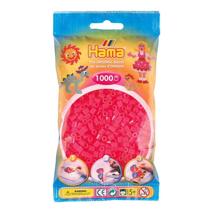 Hama Midi bolsa 1000 perlas Fucsia neón