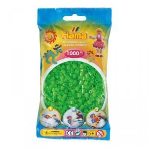 Hama Midi bolsa 1000 perlas verde fluorescente