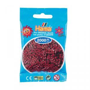 Hama Mini bolsa 2000 perlas burdeos