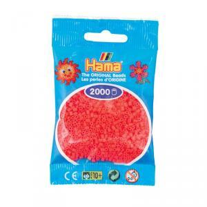 Hama Mini bolsa 2000 perlas cereza fluorescente