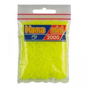 Hama Mini bolsa 2000 perlas amarillo fluorescente