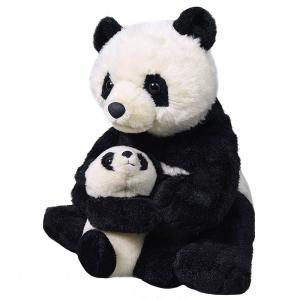 Peluche oso panda con cría 25cm
