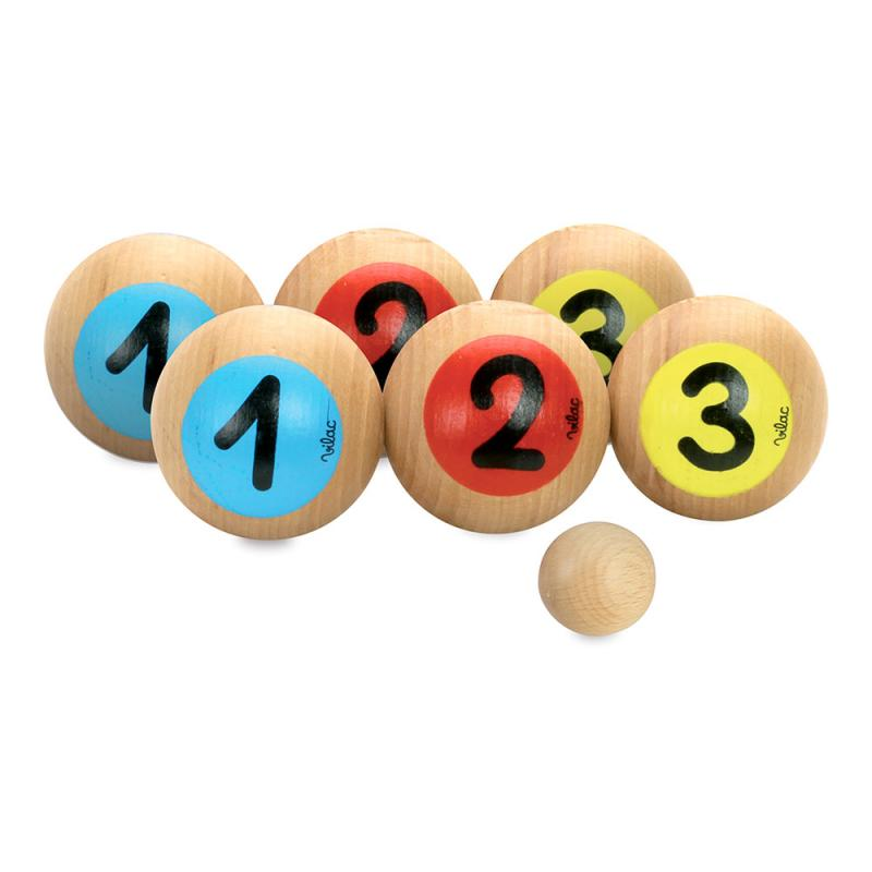 Set juego petanca madera