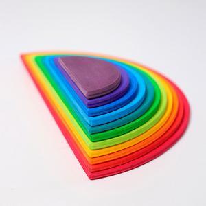 Semicírculos arco iris apilables colores madera 11 piezas