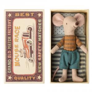 Ratón pantalón azul en caja