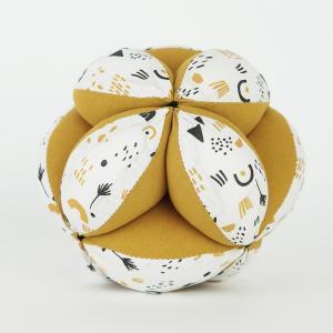 Pelota Montessori algodón mostaza