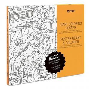 Póster colorear música 100x70cm