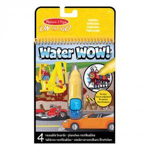 Set bolígrafo de agua con bloc vehículos Water Wow