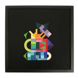 Tablero negro magnético 50x50cm