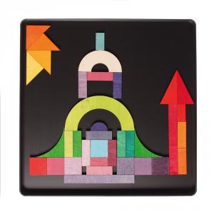 Puzzle magnético formas geométricas 59 pzas