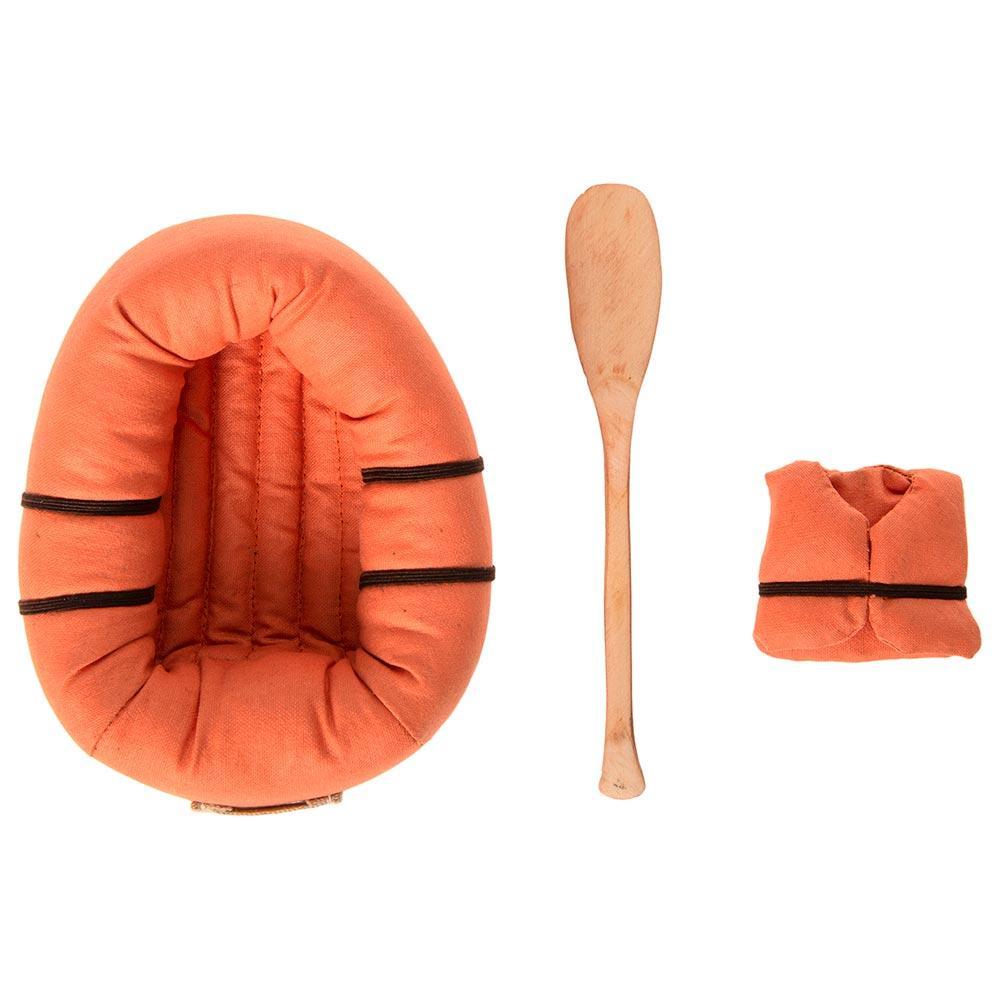 Bote hinchable algodón 12cm con chaleco salvavidas