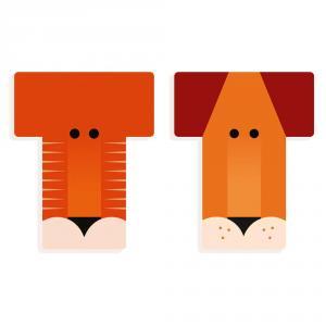 Letra T animal madera