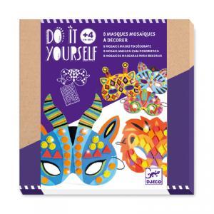 Set 8 máscaras para decorar mosaico animales de la selva
