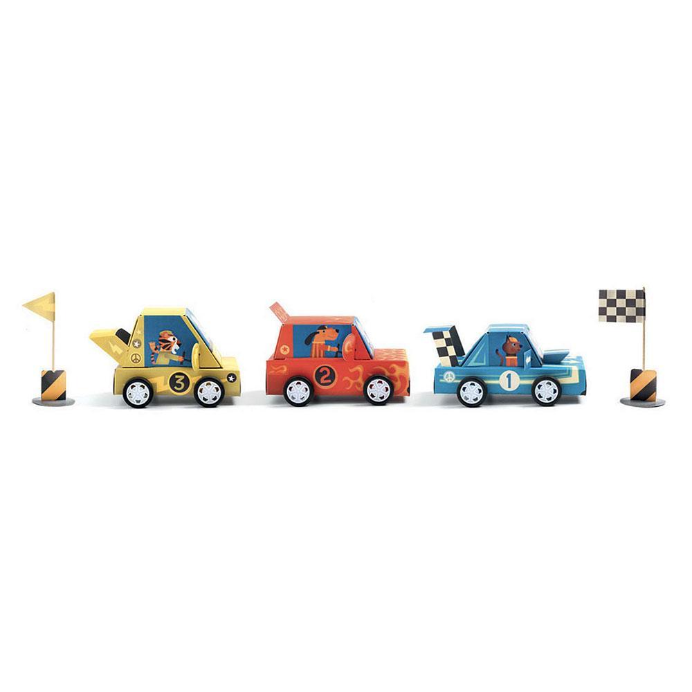 DIY 3 coches carreras grand prix