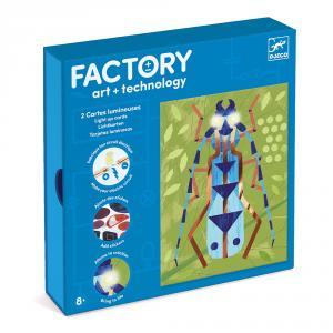 Set crea tarjetas luminosas insectos