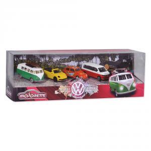 Set 5 coches metal Volkswagen escala 1:64