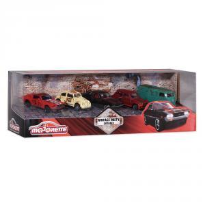 Set 5 coches metal Vintage Rusty escala 1:64
