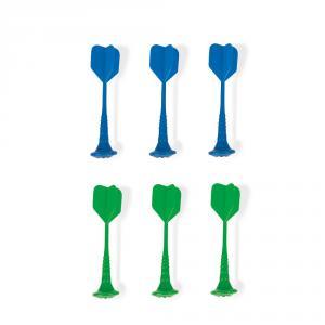 Set 6 dardos magnéticos plástico azul y verde