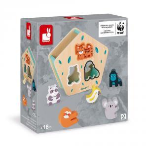 Caja de formas animales WWF madera