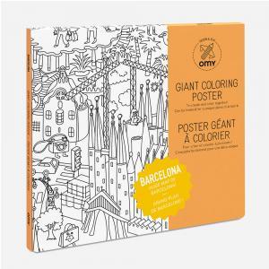 Póster colorear Barcelona 100x70cm