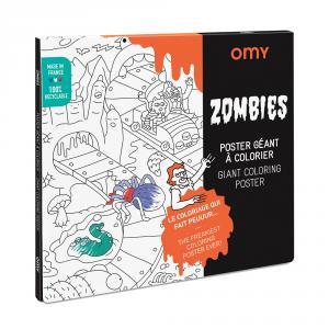 Póster colorear zombies 100x70cm