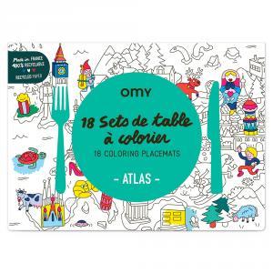 Set 18 manteles colorear atlas