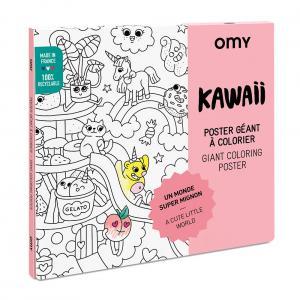 Póster colorear Kawaii 100x70cm