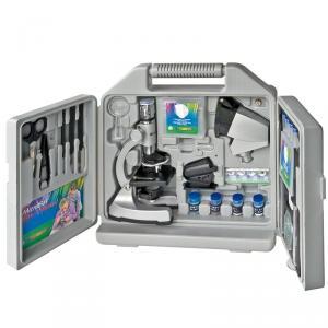 Microscopio con accesorios