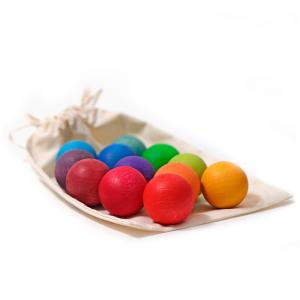 Bolas de madera colores 3,5cm 12 unidades
