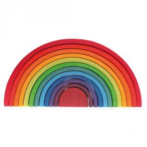 Arco iris madera apilable colores 12 piezas