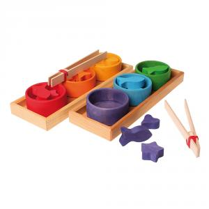 Cuencos clasificación madera colores