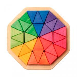 Octágono de madera de colores 32 piezas