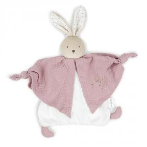 Doudou algodón orgánico conejo rosa