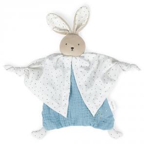 Doudou algodón orgánico conejo azul