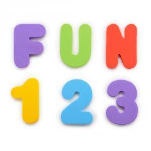 Set pegatinas baño letras y números