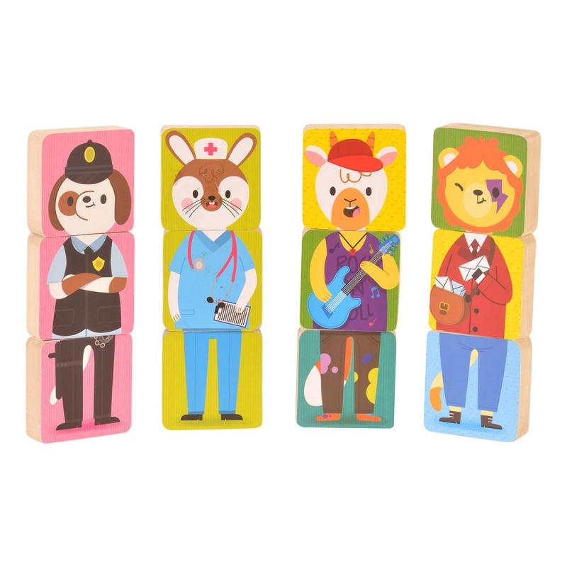 Mix and match magnetic animals