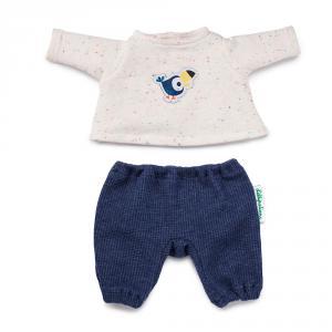 Pijama con pantalón azul para muñeco de 36 cm.