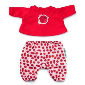 Pijama rojo para muñeco de 36cm.