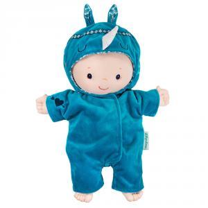 Conjunto azul con capucha para muñecos de 36 cm.