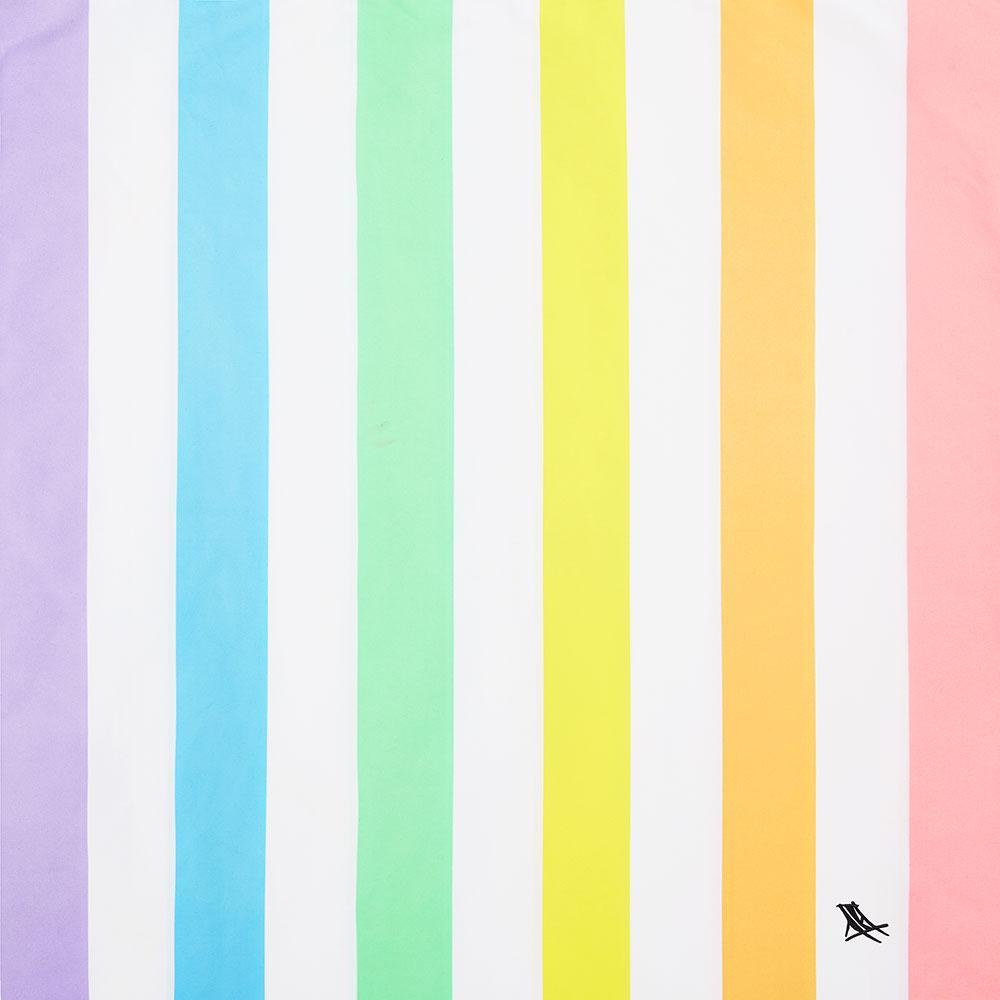 Toalla playa rainbow Dock and Bay talla L 160x90cm
