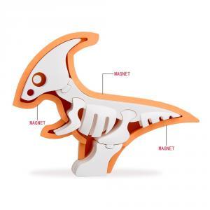 Halftoys parasaurolophus para ensamblar magnético con diorama