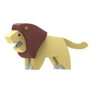Halftoys león para ensamblar magnético con diorama