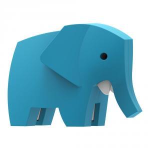 Halftoys elefante para ensamblar magnético con diorama