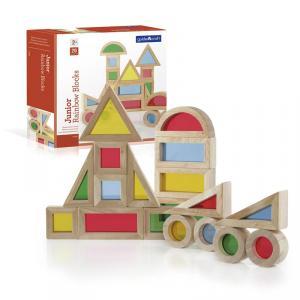 Construcción bloques Junior arco iris 20 piezas