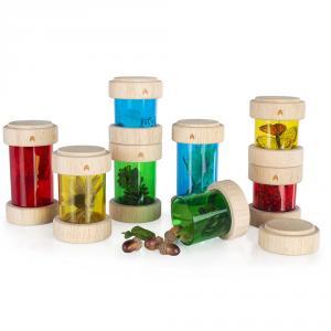 Tubos de tesoros 8 piezas (colores primarios)
