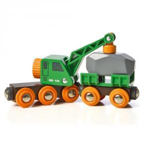 Vagón grúa con remolque