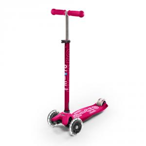 Patinete maxi Micro Deluxe LED rosa