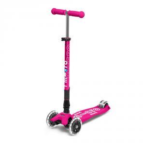 Patinete maxi Micro deluxe plegable Led rosa
